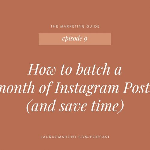 How to batch a month of Instagram Posts (and save time)