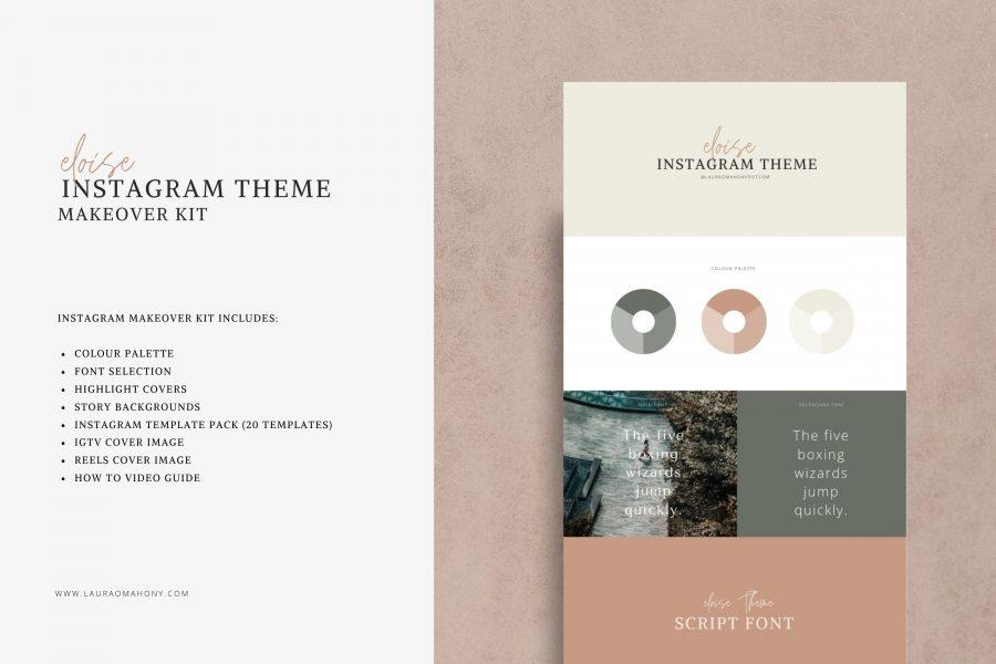 Eloise Instagram Theme - Makeover Kit