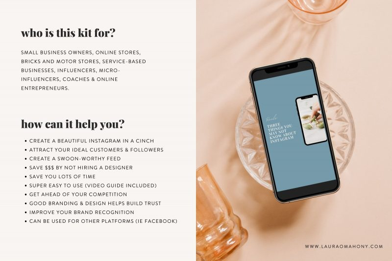 Lucille Instagram theme makeover kit aesthetic creator theme creator template lauraomahonydotcom canva template engagement templates 11