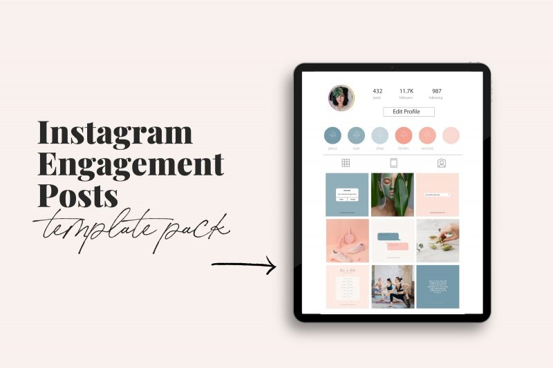 Lucille Instagram theme makeover kit aesthetic creator theme creator template lauraomahonydotcom canva template engagement templates 8