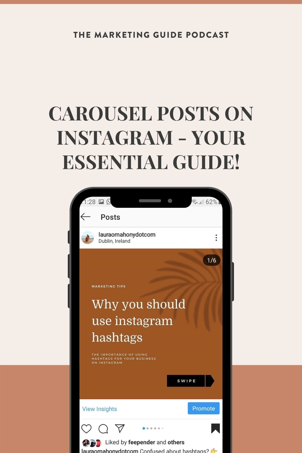 Episode 40 - Carousel The Marketing Guide Podcast episode 40 Carousel Posts on Instagram - Your essential guide