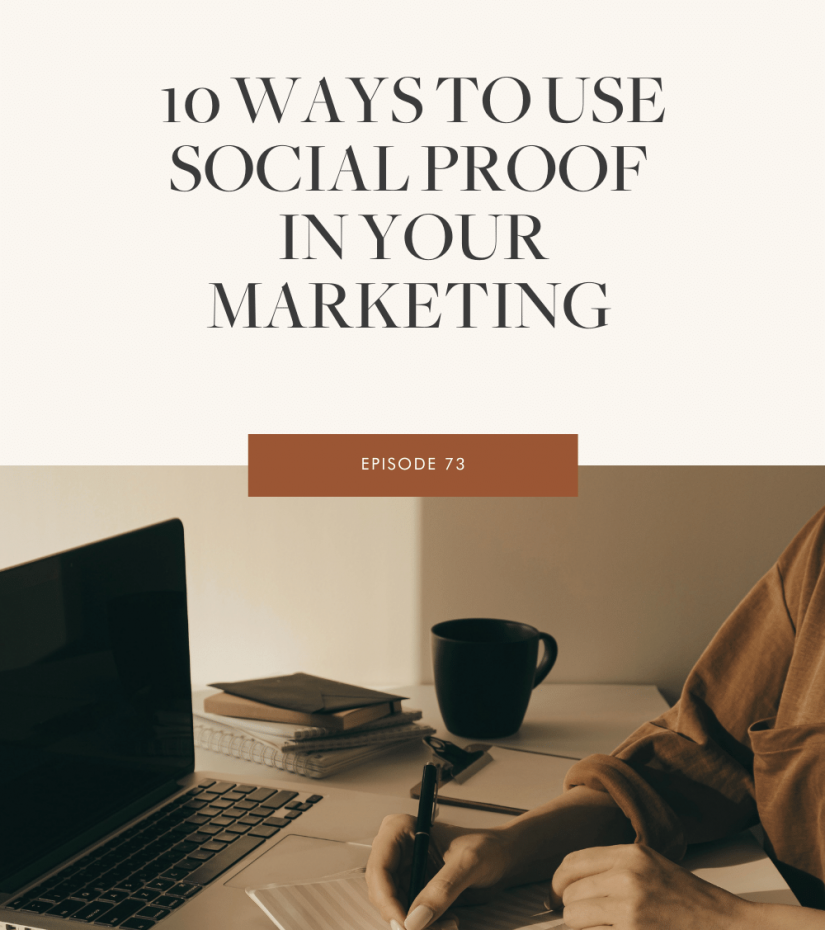The Marketing Guide Podcast Episode 73 - 10 Ways To Use Social Proof In Your Marketing