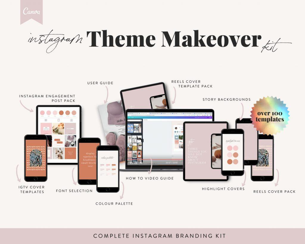 The Marketing Guide Etsy Instagram Theme Makeover Kit
